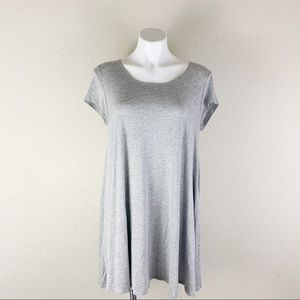 POETRY Anthropologie Gray T Shirt Dress Size M/L